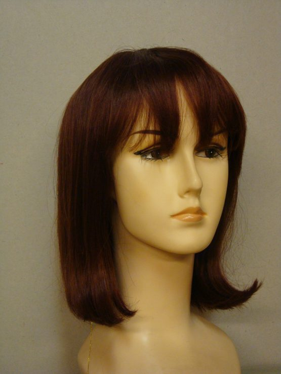 Półdługa peruka z włosów naturalnych ruda