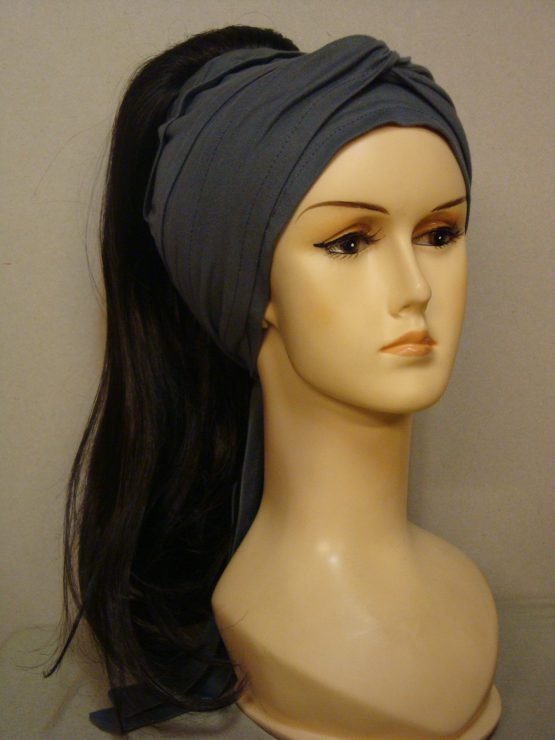 Włosy na opasce - długi ciemny brąz
