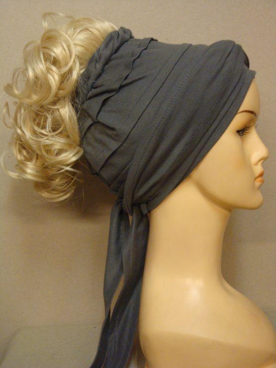 Włosy na opasce - kręcony blond