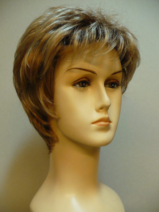 "Krótka peruka blond z refleksami ""jeżyk"""