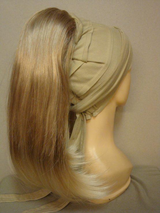 Włosy na opasce - długi jasny blond