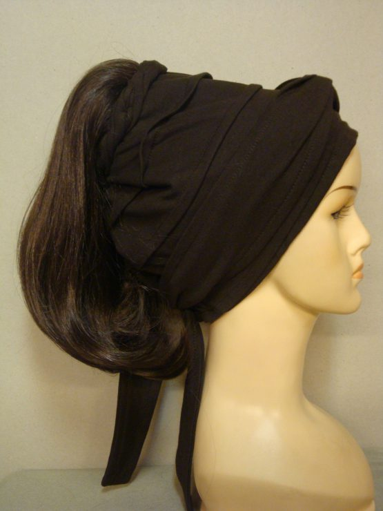 Włosy na opasce - półdługi brąz