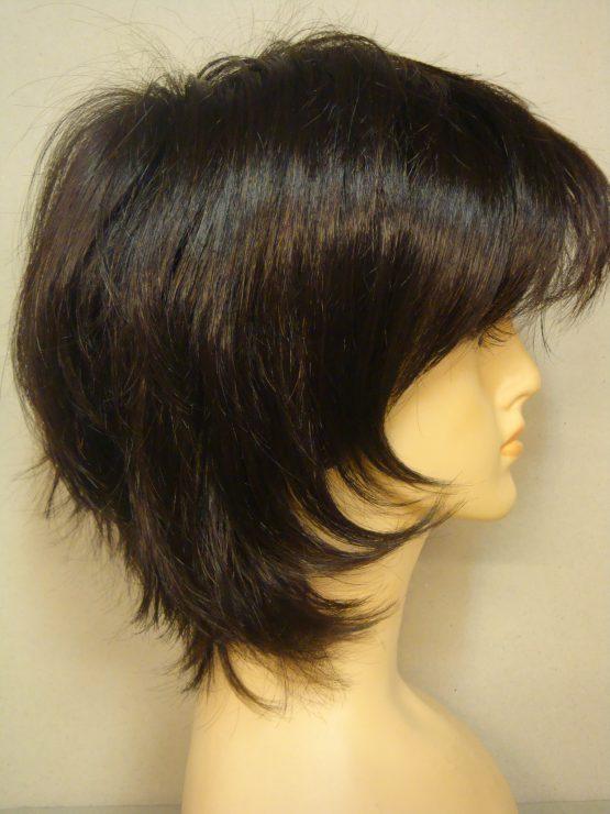 Krótka brązowa peruka