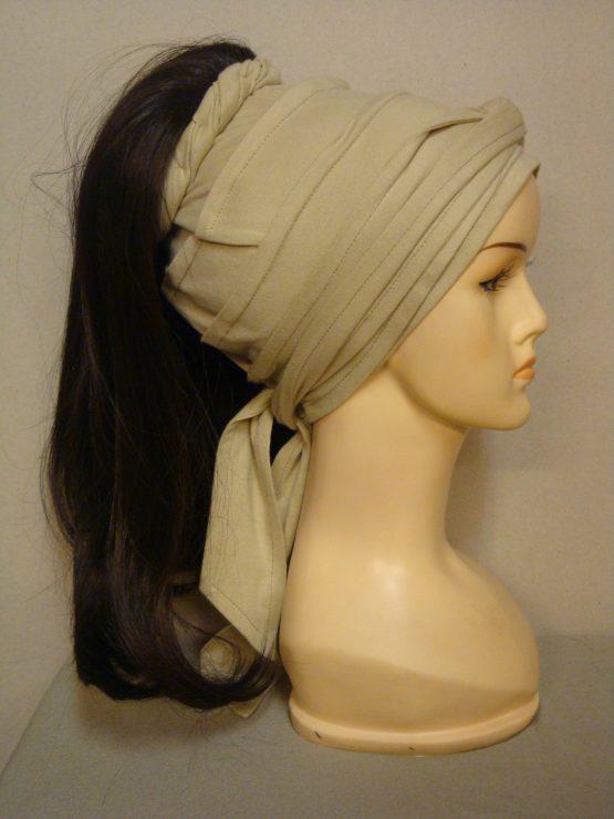Włosy na opasce - długie brązowe