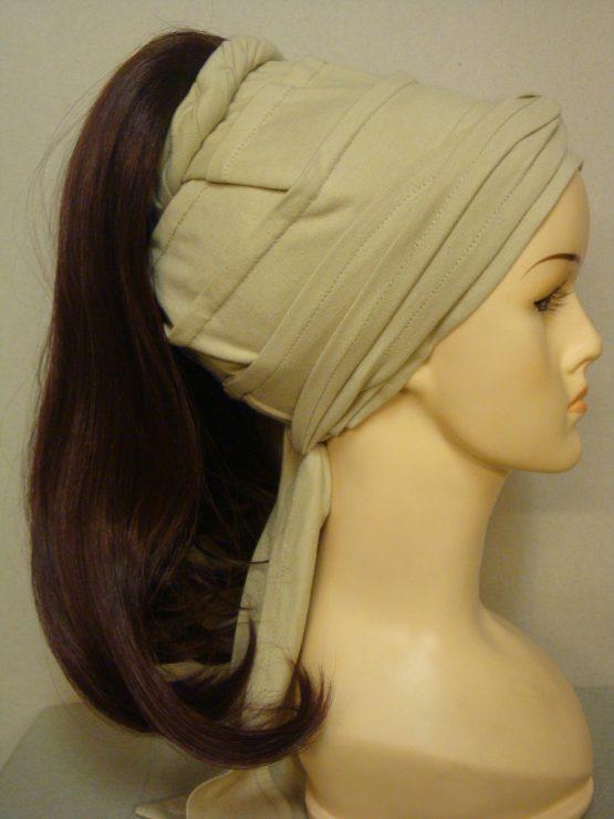 Włosy na opasce - długie kasztanowe