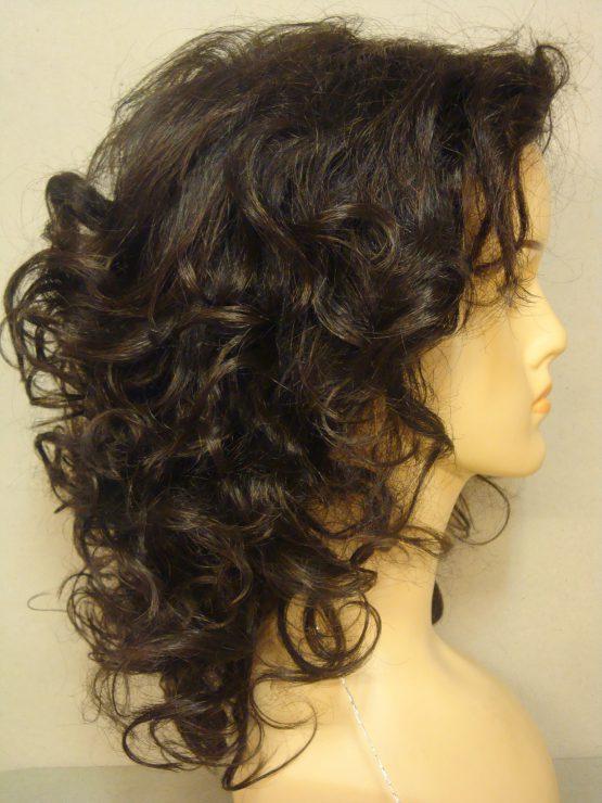 Długa peruka w kolorze brązu kręcona