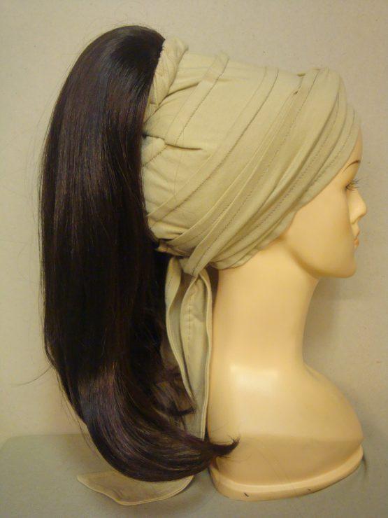 Włosy na opasce - długie brąz z rudawymi refleksami