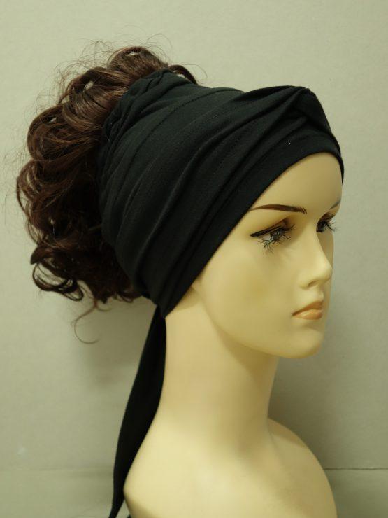 Włosy na opasce - półdługie kasztanowe
