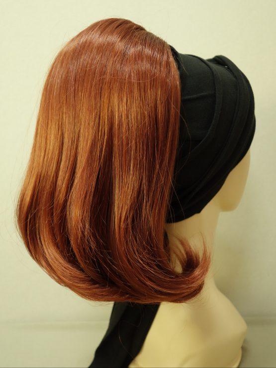 Włosy na opasce - proste rude
