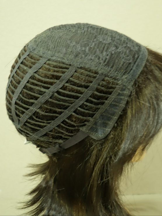 Półdługa peruka ciemny brąz