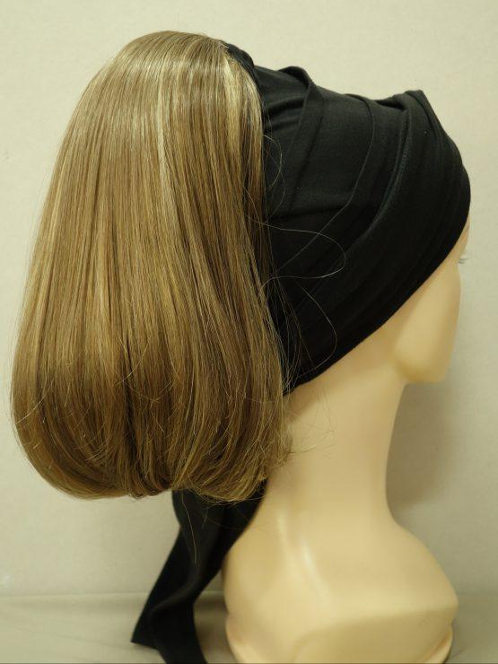 Włosy na opasce - proste jasny brąz