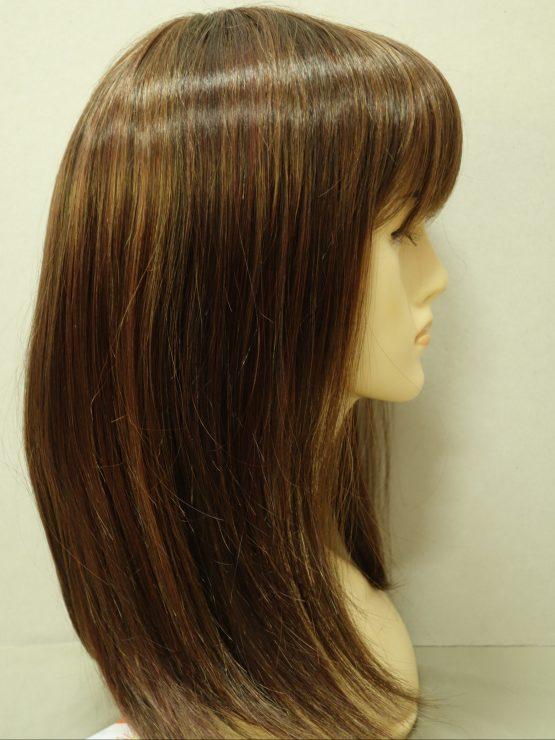 Półdługa peruka brąz