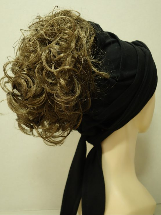 Włosy na opasce - kręcony ciemny blond