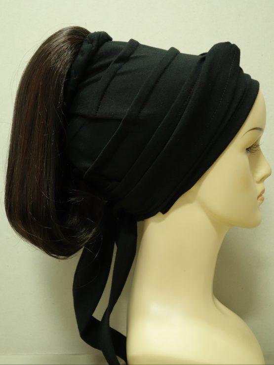 Włosy na opasce - proste brąz z rudymi refleksami