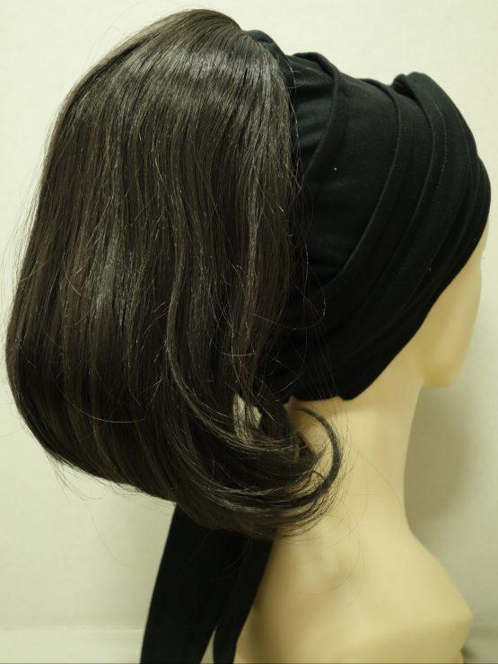 Włosy na opasce - proste brąz