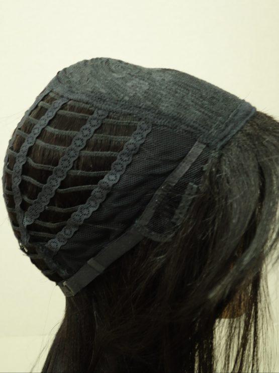 Długa naturalna peruka w kolorze czarnym
