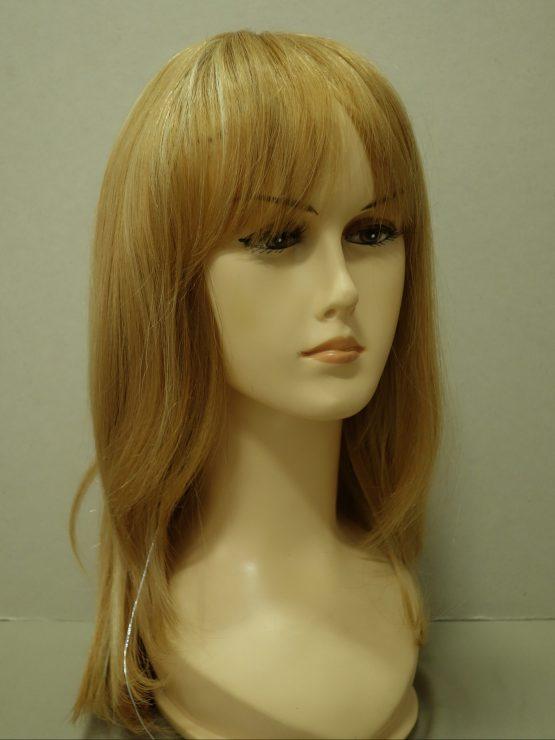 Długa naturalna peruka w kolorze złotego blondu