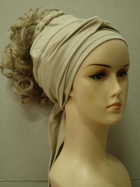 Włosy na opasce - kręcone jasny blond