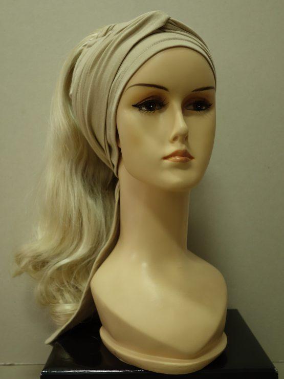 Włosy na opasce - delikatnie falowane jasny blond