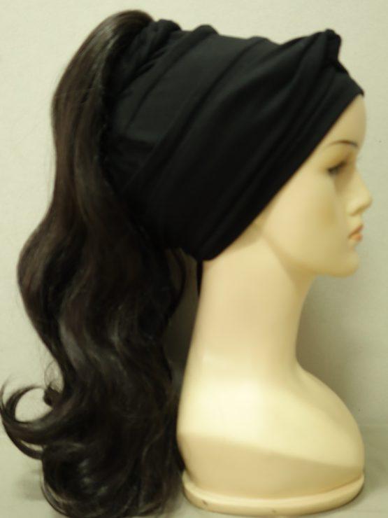 Włosy na opasce - delikatnie falowane ciemny brąz