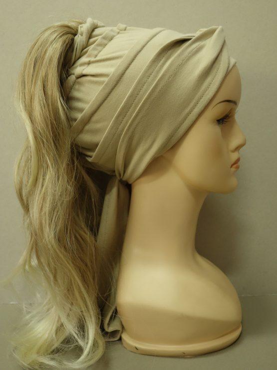 Włosy na opasce - delikatnie falowane blond