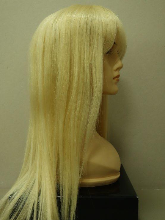 Długa naturalna peruka w kolorze jasnego blondu