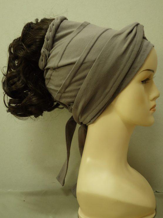 Włosy na opasce - kręcone ciemny brąz