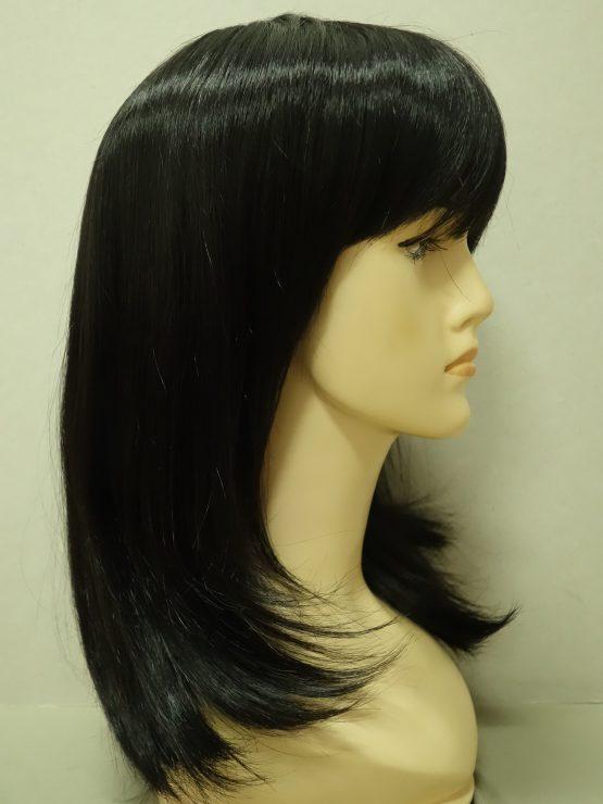 Półdługa peruka w kolorze czarnym