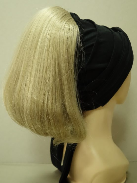 Włosy na opasce - proste jasny blond