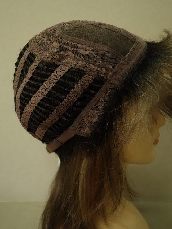 Półdługa peruka cynamonowa z refleksami