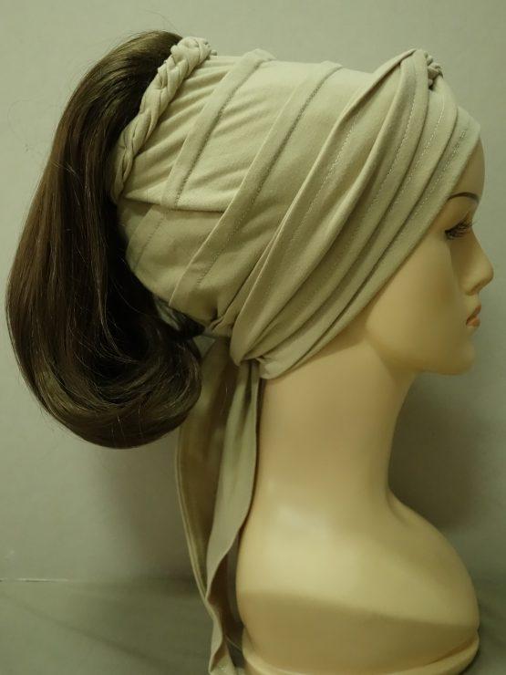 Włosy na opasce - proste średni brąz