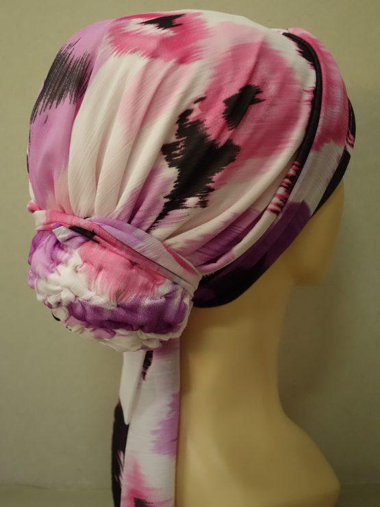 Kolorowy turban w maziaje