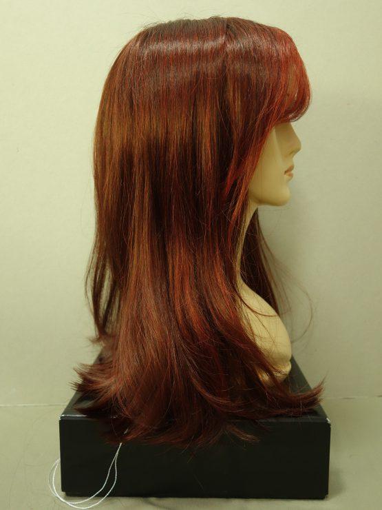 Długa peruka ognisty rudy