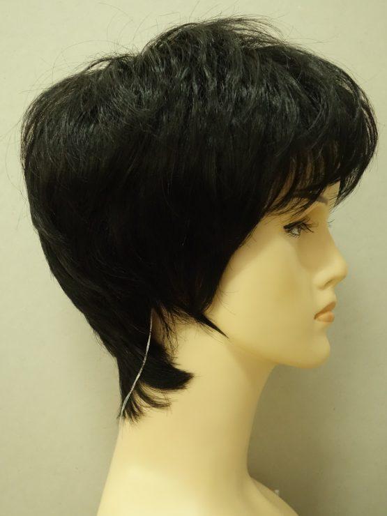 Krótka peruka w kolorze czarnym