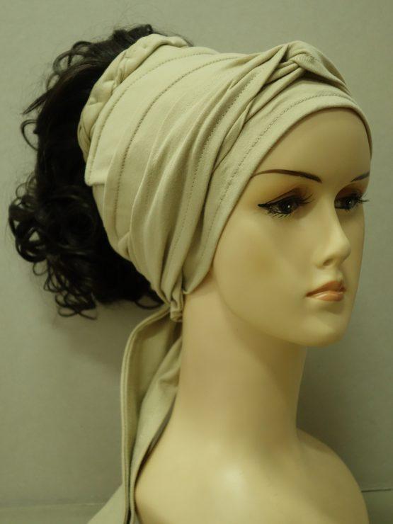 Włosy na opasce - kręcone brąz