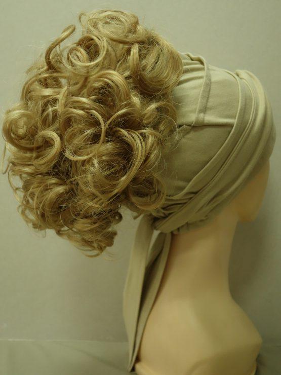 Włosy na opasce - kręcone złocisty blond