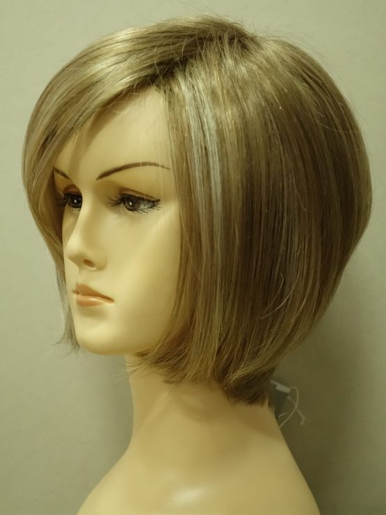 Krótka peruka blond z refleksami