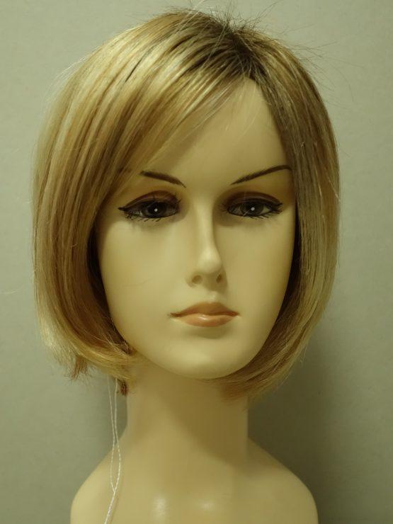 Krótka peruka blond na ciemniejszej podsatwie
