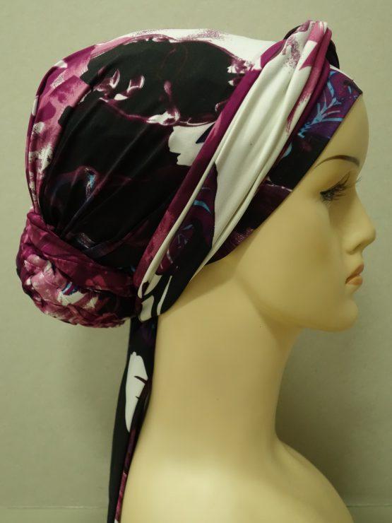 Kolorowy turban we wzory