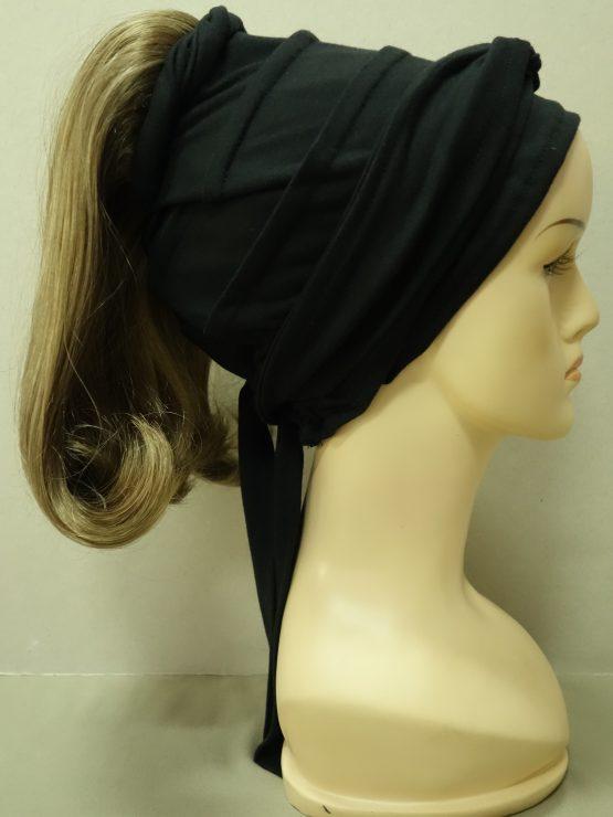 Włosy na opasce z daszkiem - proste ciemny blond z refleksami