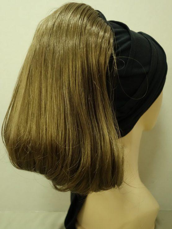 Włosy na opasce - proste ciemny blond