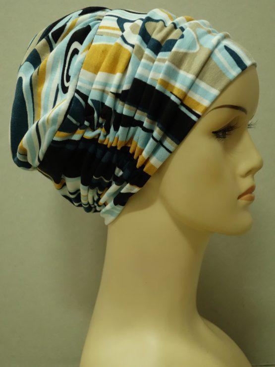 Kolorowa drapowana czapka