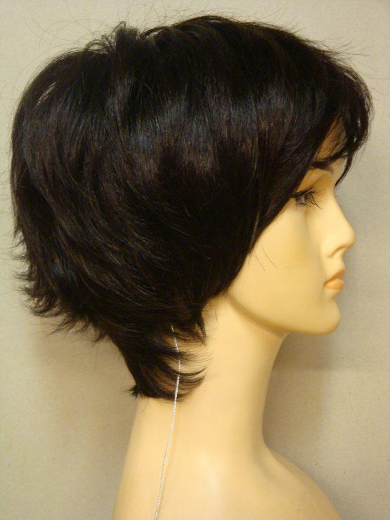 Krótka peruka ciemny brąz pocieniowana