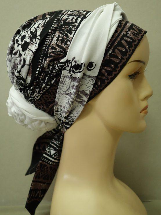Turban w egipskie wzory