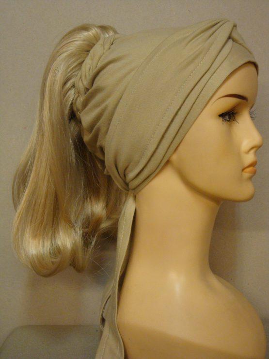 Włosy na opasce - półdługi jasny blond