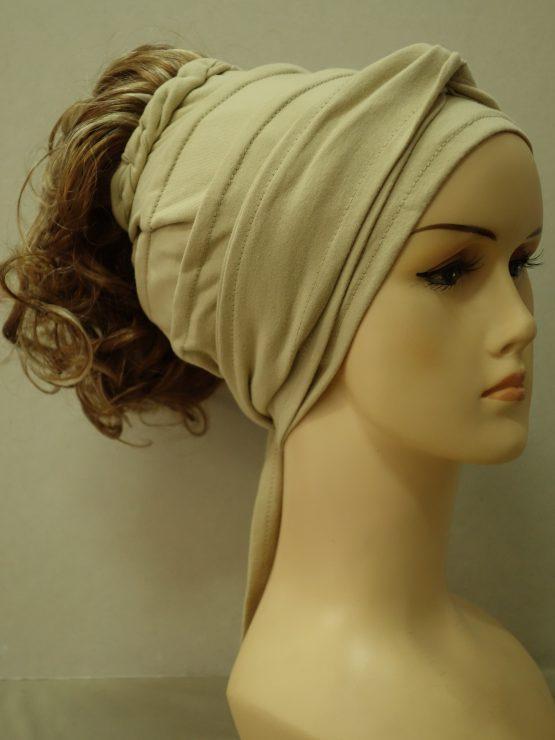 Włosy na opasce - krótkie kręcone jasny rudy z refleksami