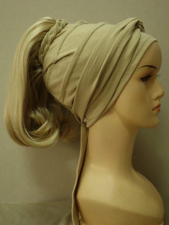Włosy na opasce - półdługie jasny blond z refleksami