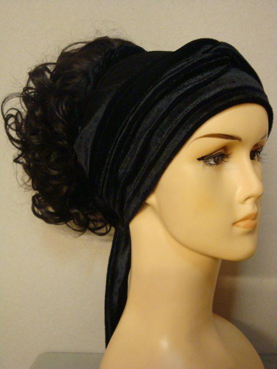 Włosy na opasce - kręcony brąz