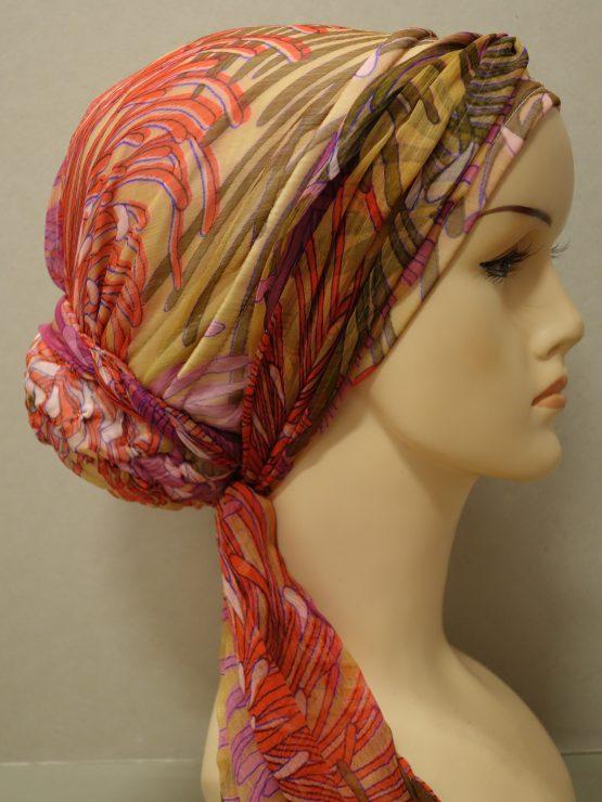 Słoneczny turban we wzory