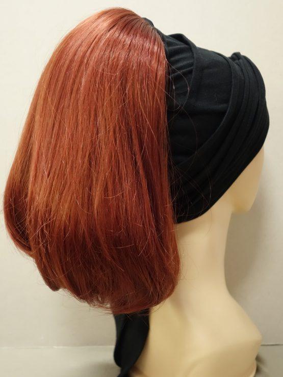 Włosy na opasce - półdługie rude